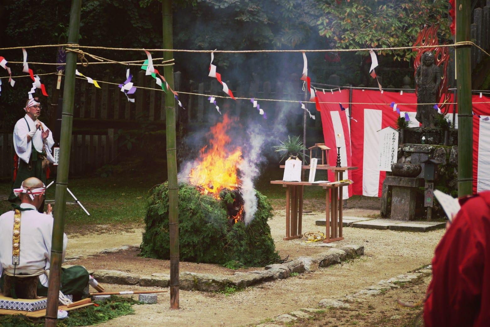 金剛山転法輪寺の秋祭り